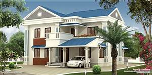 Beautiful, 2, Floor, Villa, With, Sloping, Roofs, And, Balcony