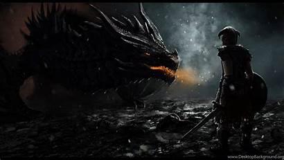 Skyrim Dragon Desktop Scrolls Elder 2560 1440