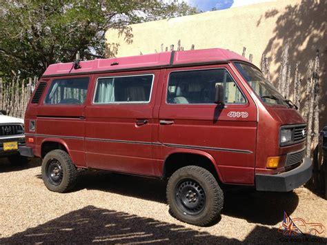 volkswagen vanagon 1987 vw vanagon syncro westfalia 4x4 full cer