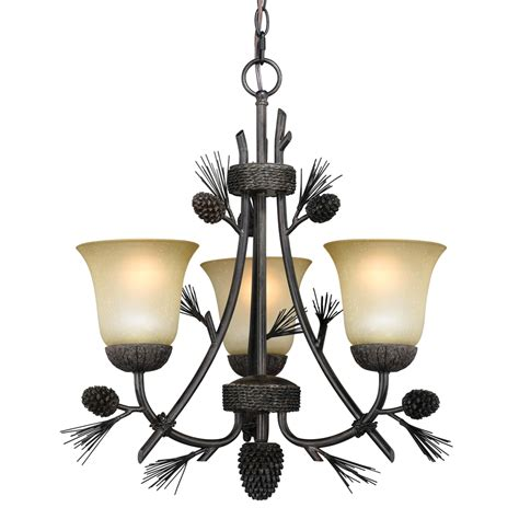 Lighting Chandeliers by Rustic Chandeliers Ponderosa Small Chandelier