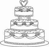 Cake Coloring Pages Sheets Birthday Clip Happy Getcoloringpages sketch template
