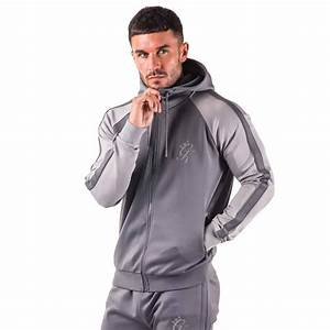 Gym King Reflective Lester Poly Zipped Hoodie - Dark Grey ...