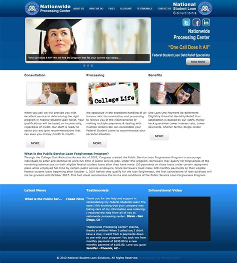 Loan Modification Processing Center by Nationwide Processing Center National Student Loan
