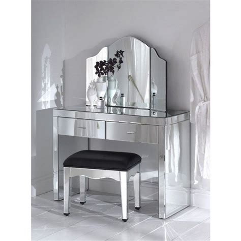 Creative Small Kitchen Ideas - mirrored makeup storage is a stylish way to unclutter the vanity table or bathroom decor