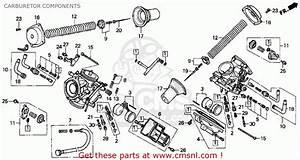 Honda Pc800 Pacific Coast 1990  L  Usa California Carburetor Components
