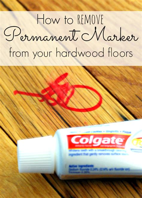 permanent marker on hardwood floor permanent marker removal