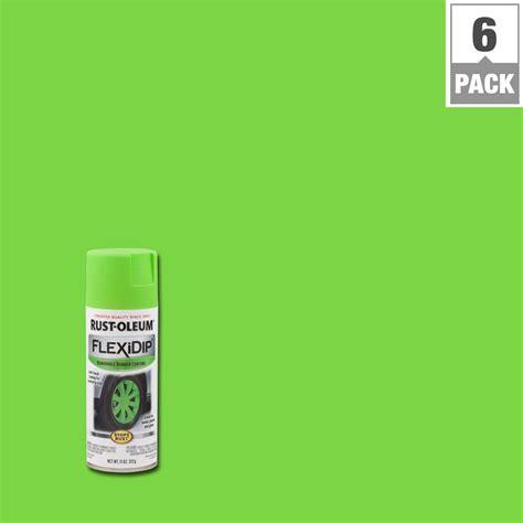 rust oleum flexidip 11 oz grabber green spray paint 6 283177 the home depot