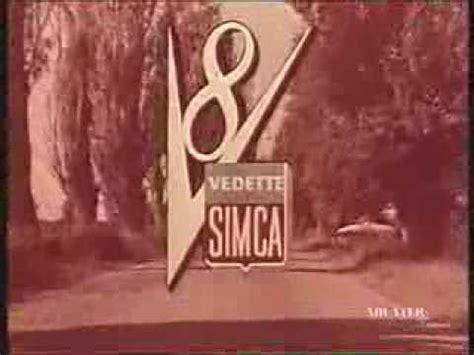 Simca Vedette Pub 1959 - YouTube