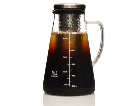 cold brew coffee maker ovalware airtight cold brew coffee maker 187 gadget flow
