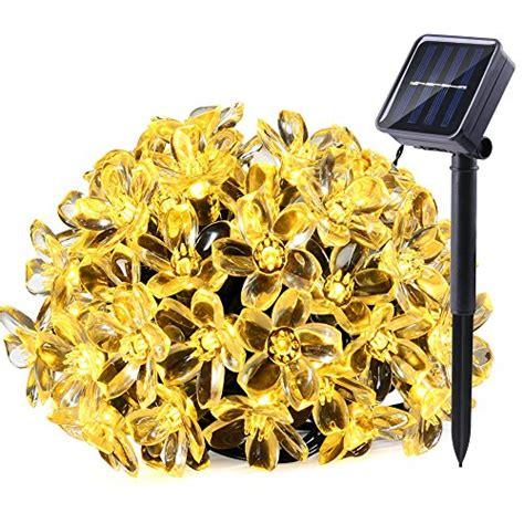 qedertek solar string lights 21ft 50 led fairy flower