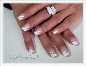 French Manucure Couleur : french manucure ongles deco ~ Nature-et-papiers.com Idées de Décoration