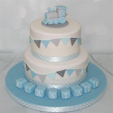 Baby Shower For Men by Blue Grey Christening Cake