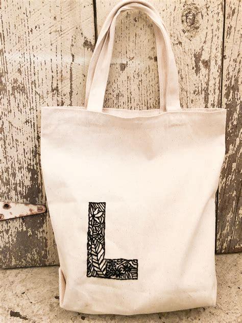 embroidered monogram tote bag etsy monogram tote bags tote bag monogram tote