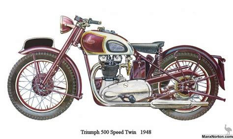 triumph speed twin  drawing