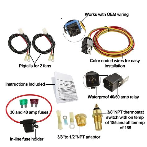 185 165 dual electric cooling fan wiring harness install