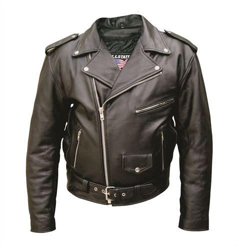 Mens Tall Buffalo Leather Motorcycle Jacket W Zipout Liner