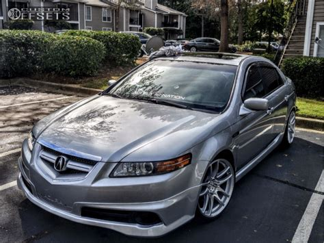 wheel offset 2006 acura tl flush coilovers custom offsets