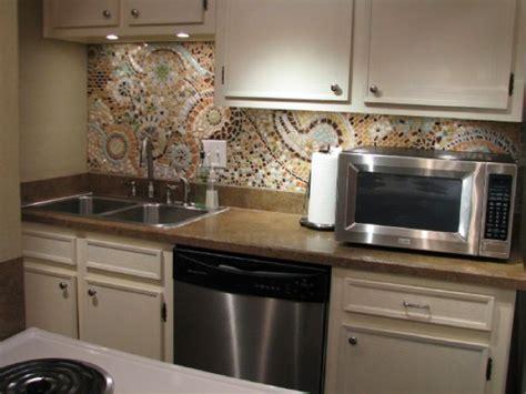 Mosaic Kitchen Backsplash Inexpensive Easy Backsplash Diy