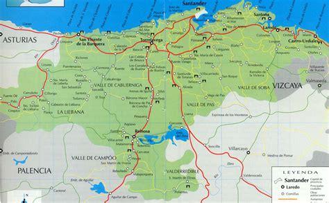 Mapa de Carreteras de Cantabria - Tamaño completo