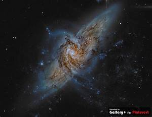 ngc 3314 overlapping another galaxy | Galaxies, Nebulas ...