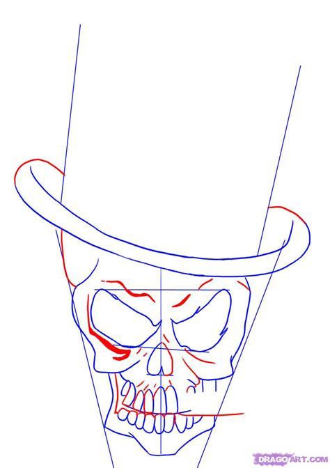 How Draw Skull Head Design Step Tattoos
