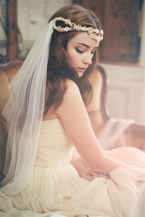 wedding hairstyles long hair with veil