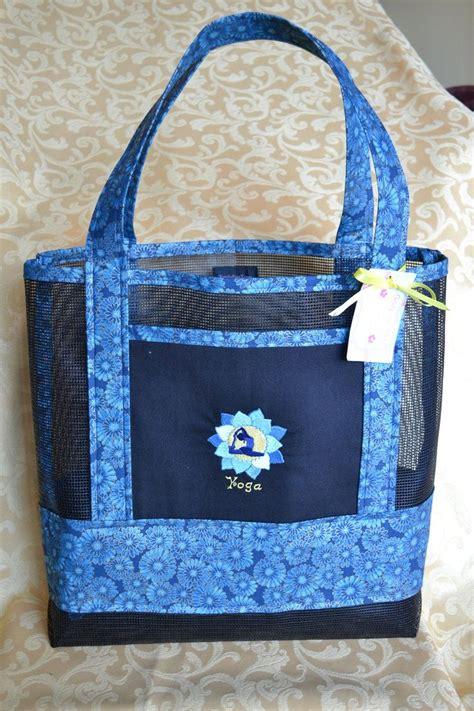 mesh tote bag pattern tote bag yoga lotus flower fabric  vinyl mesh   etsy