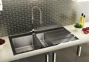 kitchen carron phoenixs silhouette black glass sink hi