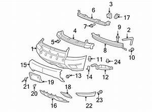 Chevrolet Tahoe Bumper Cover Support Rail  Front  Upper