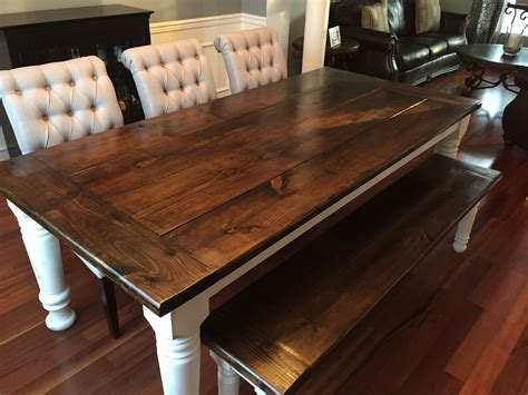 Ana White   Farmhouse table   bench   extensions   DIY