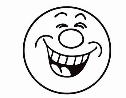 Laughing Smiley Coloring Face Emoji Laugh Pages