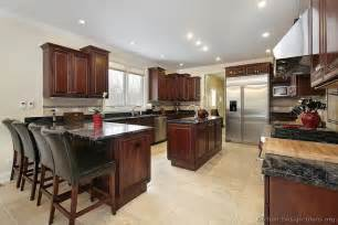 kitchen island peninsula pictures of kitchens traditional wood kitchens cherry color page 3