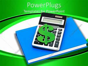 Powerpoint Template  A Calculator With A Dollar Sign And