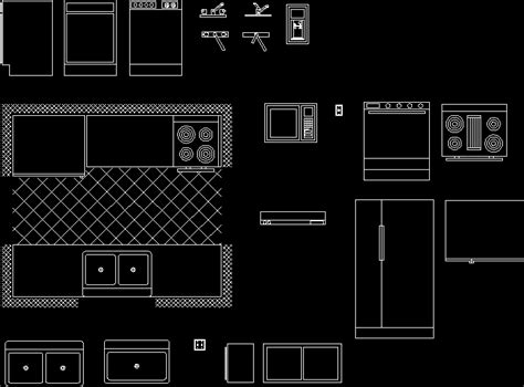 kitchens  autocad  cad   kb bibliocad