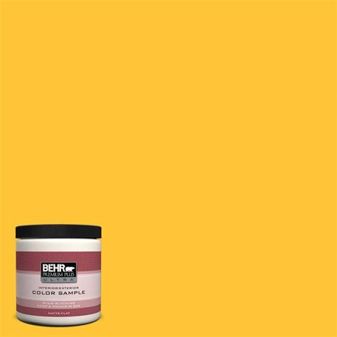 behr premium plus ultra 8 oz 330b 7 sunflower interior