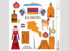 Armenia, Set Of Icons Stock Vector Image 49348165