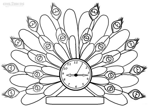 printable clock coloring pages  kids coolbkids