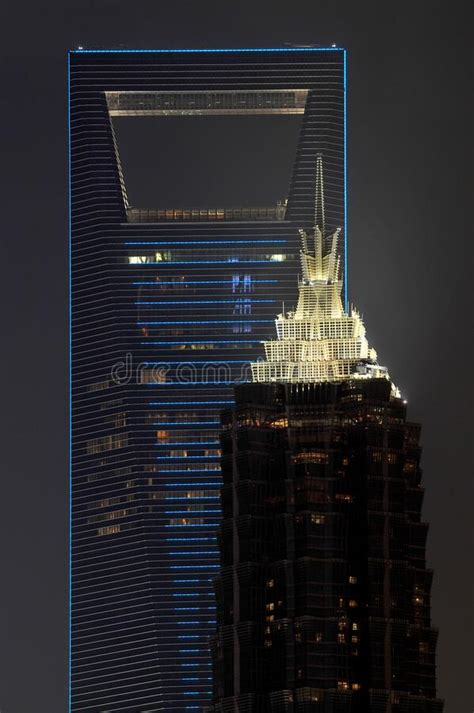 Shanghai SWFC And Jin Mao Tower Editorial Stock Image ...