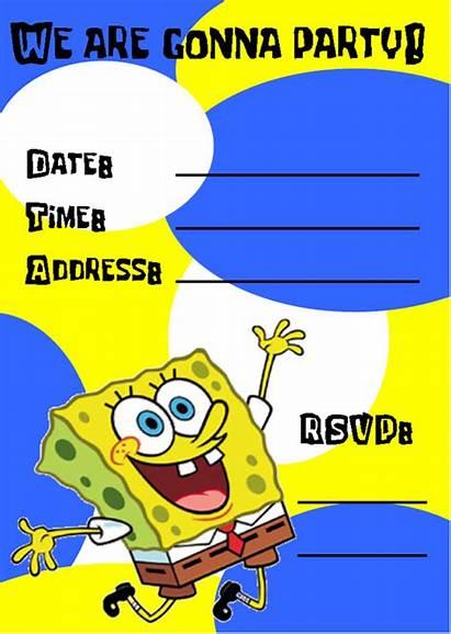 Birthday Invitations Printable Spongebob Invitation Party Templates