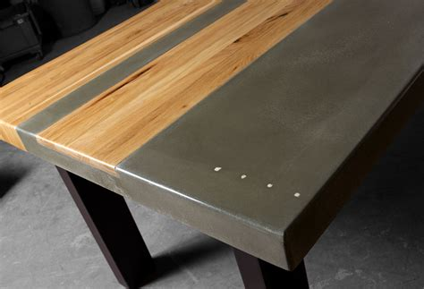 wood steel dining table concrete wood steel dining kitchen table