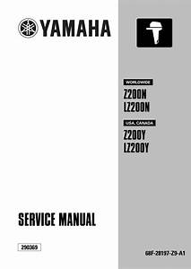 Yamaha Outboard Lz200neto  Lz200tr Service Repair Manual X 100101  U2013 By 1639589