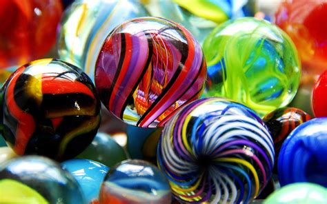 colored marbles get ready to knuckle up of brightly