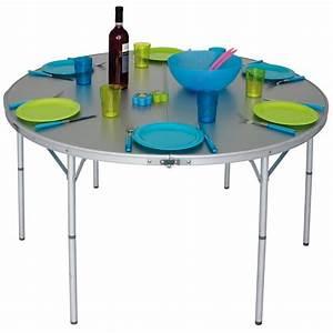 Table De Camping Pliante : table de camping ronde pliante eurotrail circle 120 ~ Melissatoandfro.com Idées de Décoration