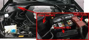 Fuse Box Diagram Infiniti G35  V35  2002