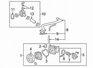 Cadillac Cts Engine Coolant Bypass Pipe  Liter  Cooling