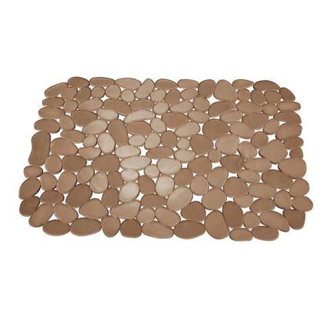 cut to size sink mat interdesign 11 75 in pebblz large sink mat in amber 60662