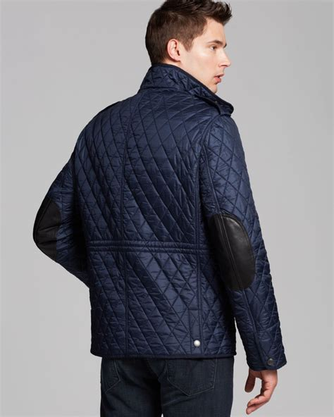 s burberry quilted jacket burberry brit russel quilted jacket in blue for