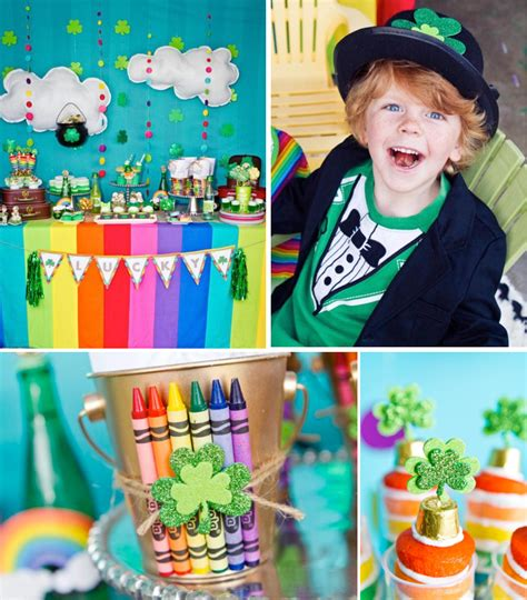 karas party ideas rainbow girl boy pot  gold st