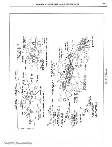 automobile air conditioning repair 1966 pontiac tempest spare parts catalogs 1965 pontiac and tempest air conditioning manual
