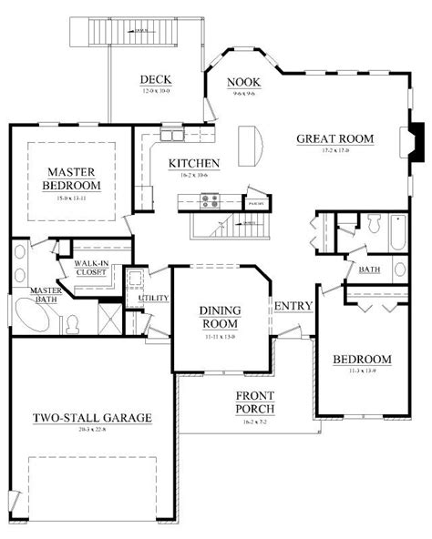 House Plans With Big Bedrooms by Big Kitchen Breakfast Nook Floor Plan Home Decor In